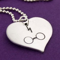 Heart the Boy Who Lived Harry Potter Necklace - Spiffing Jewelry