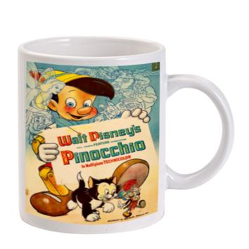 Gift Mugs | Disney Pinocchio Inspired Vintage Poster Ceramic Coffee Mugs