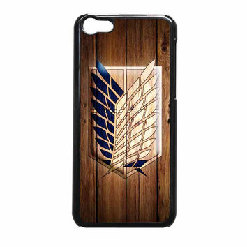Attack On Titan Legion Logo Wood iPhone 5c Case
