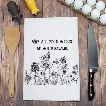 Made in the USA Kitchen Tea Towels: Pig, Bees, Fun with Wine, Wildflowers and more!