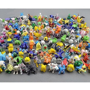 72Pcs  Cute 2-3cm Pokemon Mini Random Pearl ct Figures Toy Party Gifts = 1946130436