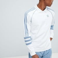 adidas Originals Authentic Rugby Top In White DH3844 at asos.com