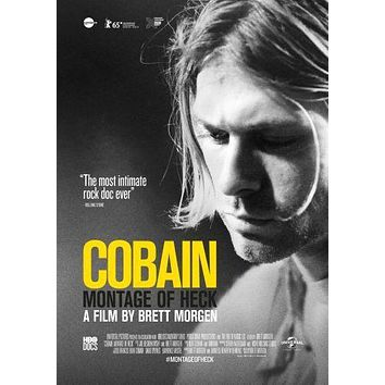 Kurt Cobain Montage Of Heck Movie poster Metal Sign Wall Art 8in x 12in