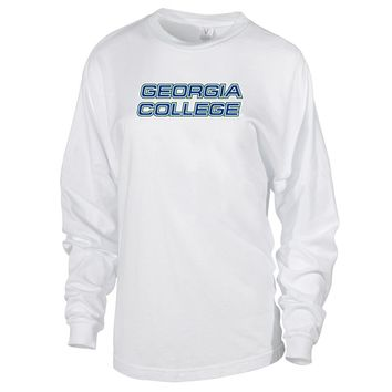 Official NCAA Georgia College and State University Bobcats- PPGCS020 Women's Oversized Long Sleeve Jersey Tee