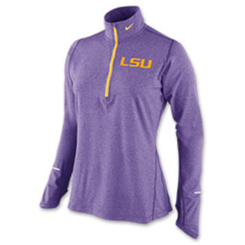 Women's Nike LSU Tigers College Dri-FIT Element Half-Zip