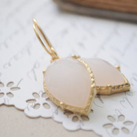 Creme Brulee Drops Cream and gold drop by littlejarofhearts
