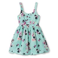 Girls' Floral Sun Dress - Crystalized Green