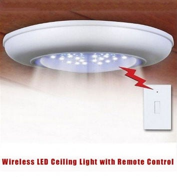 LED Light Cordless Wireless Ceiling Wall With Remote Control