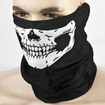 2pcs/lot Motorcycle SKULL Ghost Face Windproof Mask Outdoor Sports Warm Ski Caps Bicyle Bike Balaclavas Scarf
