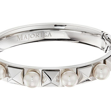 Majorica Why Not? Silver Pyramid Bangle White - Zappos.com Free Shipping BOTH Ways