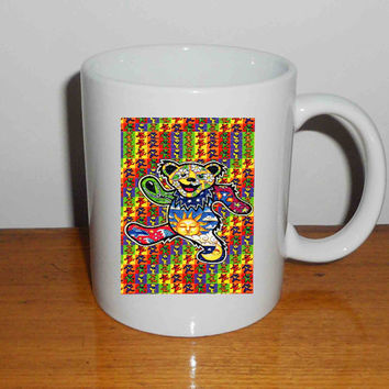"The Grateful Dead Dancing Bear 4 - Mug, Quote Mug, Beyonce Mug, Ceramic Mug, typography, Beyonce Quote, Cup Mug ""NP"""