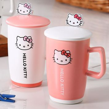 Hello Kitty Cute Cartoon Mug Milk Coffee Cereal Tea Cup