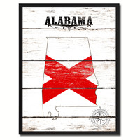 Alabama State Flag Gifts Home Decor Wall Art Canvas Print Picture Frames