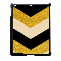 Chevron Classy Black And Gold Printed iPad 4 Case
