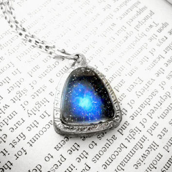 Deep Space Necklace, Resin Space Pendant, Nebula Necklace,Outer Space Necklace,Space Jewelry, Nebula Pendant,Celestial Jewelry,Space Pendant