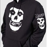 The Misfits - Fiend Skull Hoodie Adult Hooded Sweater In Black, Size: Large, Color: Black