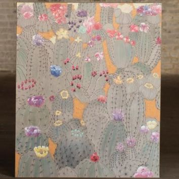 Oil Painting - Blooming Cactus