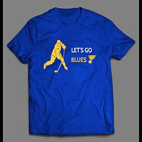 YOUTH SIZE ST. LOUIS HOCKEY LET'S GO BLUES KIDS SHIRT
