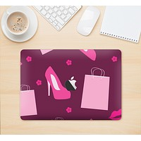 """The Pink High Heel Shopping Pattern Skin Kit for the 12"""" Apple MacBook"""