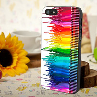 Melting crayon rainbow design for iPhone 4/4s, Iphone 5, Samsung Galaxy S3, Samsung S4, Blackberry Z10, Ipod 4 & Ipod 5 from stevaz store