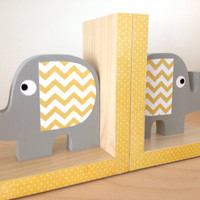 Elephant Bookends- eco-friendly by Maple Shade Kids