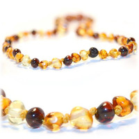 The Art of Cure Certified Baltic Amber Teething Necklace for Baby (mixed colors) - Anti-inflammatory ...