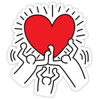 'Keith Haring Love Falsettos' Sticker by annawarbler