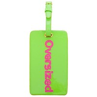 Luggage Tag in Green with Pink Oversized by Lolo