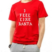 Hip hop Funny Christmas shirt I feel like Santa t shirt hip hop Christmas party swag rap sweat shirt for teen girls and boys
