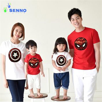 Spiderman or Captain America T-Shirt 2-12 yrs