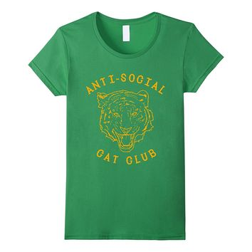 Anti Social Cat Club Panther Head T shirt