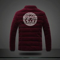 QIYIF versace RED velvet jacket