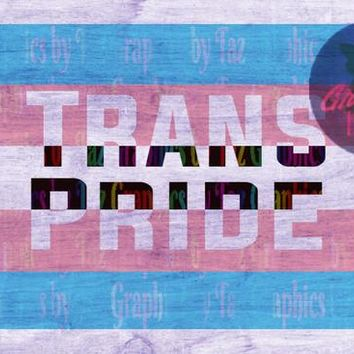 Trans pride flag 2 SVG cut file for Cricut and Silhouette cutting machines