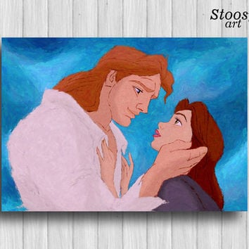 beauty and the beast poster belle disney love wedding gift disney wall art