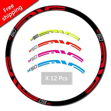 M50 Wheel Rim Stickers for Mountain Bike bicycle replacement race decals MTB  ENV E M50 Race Dirt Decals free shipping