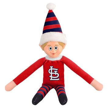 St Louis Cardinals Holiday Christmas Team Elf with Santa Hat n Shirt MLB