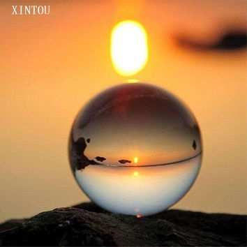XINTOU Clear Crystal Ball Photography 80mm K9 Sphere Home Fengshui Art Decor Prop Accessory  Meditation Ball Globe with Stand