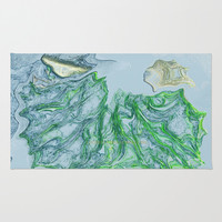 Greens and blues Area & Throw Rug by Lucine | Society6