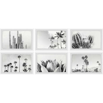 Marmont Hill Trees and Plants Framed Hexapytych Wall Art