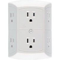 Transformer Ready 6-Outlet Tap essential college dorm room product that provides space saving added outlets to your campus room