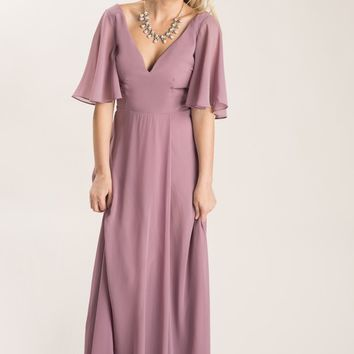 Camila Mauve-Purple Flowy Maxi Dress