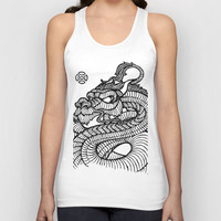 Inked Dragon Unisex Tank Top by CKeeler | Society6