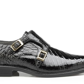 "Belvedere ""Oscar"" Alligator Double Monk Strap Dress Shoe"