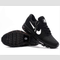 NIKE fashion casual shoes sports shock absorbing running shoes Black and white