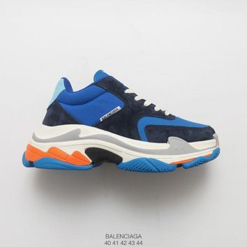 [ Free Shipping ]Balenciaga Triple-S Sneaker Blue Basketball Shoes
