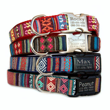 Hawaiian Dog Collars Personalized