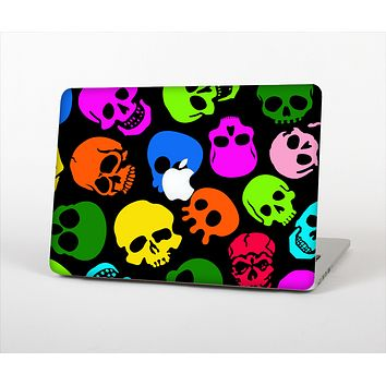 The Vivid Vector Neon Skulls Skin Set for the Apple MacBook Air 11""