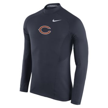 Nike Pro Hyperwarm Max Fitted (NFL Bears) Men's Training Top
