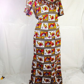 AfricanClothing,African Dress, African Fabric,The African Shop,Holland Wax,Handmade VliscoHolland Proud African Style 2 Piece Suit PLUS size