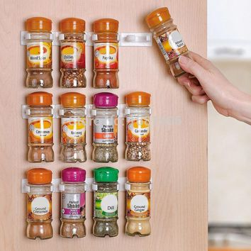 Spice wall Rack Storage plastic Kitchen organizer 12 Cabinet Door